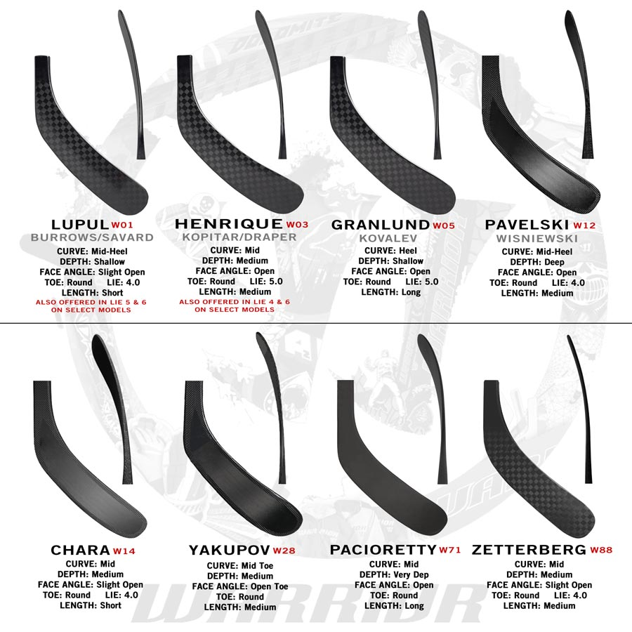 69 New Warrior Pro Stock Hockey Stick Tapered Composite