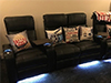 Clark Curved Row of 4 w/ Loveseat LED Lighting & Tray Tables