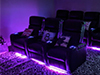 HT Design Clark Straight Row of 3 & Row of 4 Baselighting and Lighted Cupholders