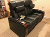 HT Design Devonshire Row of 2 Loveseat with Pillow and Wine Holder Accessory