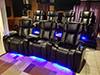 HT Design Hamilton Curved Row of 3 & Row of 4 LED Cupholders & Baselighting with Wine Holder and Tablet Holder Accessory