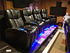 HT Design Hamilton Curved Row of 4 LED Cupholders & Baselighting