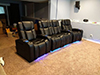 HT Design Hamilton Row of 4 Middle Loveseat LED Cupholders & Baselighting