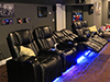 HT Design Hamilton Straight Row with Loveseat, Portable Armrest Accessory, LED Cupholders & Baselighting