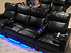 HT Design Paget Row of 4 Middle Loveseat & Row of 2 LED Cupholders & Baselighting