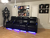 HT Design Paget Row of 4 Middle Loveseat LED Cupholders & Baselighting