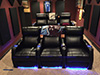 HT Design Paget Row of 3 & Row of 3 Left Facing Loveseat LED Cupholders & Baselighting