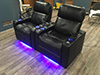 HT Design Pembroke 2-Arm Recliners LED Cupholders & Baselighting