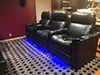HT Design Pembroke Row of 3 w/LED Lighting & Tray Tables