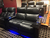 HT Design Pembroke Row of 4 Double Loveseat & Row of 3 w/LED Lighting & Tray Tables