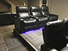 HT Design Pembroke Rows of 3 w/LED Lighting & Cupholders