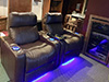 HT Design Pembroke Two 2-Arm Recliners LED Base Lighting & Lighted Cupholders