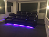 HT Design Southampton Curved Row of 4 Middle Loveseat & Straight Row of 4 LED Cupholders & Baselighting
