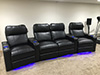 HT Design Southampton Curved Row of 4 Middle Loveseat LED Cupholders & Baselighting