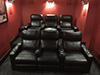 HT Design Southampton Straight Row of 3 Left Facing Loveseat with Portable Armrest & Row of 3