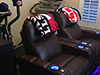 HT Design Brown Southampton 2-Arm Recliners LED Cupholders & Baselighting