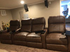 HT Design Southampton Brown Straight Row of 4 Middle Loveseat