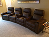 HT Design Southampton Brown Curved Row of 4