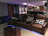 HT Design Southampton Brown Curved Row of 4 Middle Loveseat & Straight Row of 3 Sofa