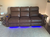 HT Design Southampton Brown Straight Row of 3 Sofa
