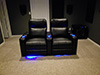 HT Design Southampton Straight Row of 2 LED Cupholders & Baselighting