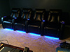 HT Design Somerset Row of 4 LED Cupholders & Baselighting