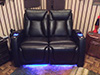 HT Design Somerset Row of 2 Loveseat LED Cupholders & Baselighting