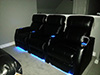HT Design Warwick Row of 3 LED Cupholders & Baselighting with Wine Holder Accessory