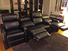 HT Design Warwick Row of 4 Middle Loveseat LED Cupholders & Baselighting