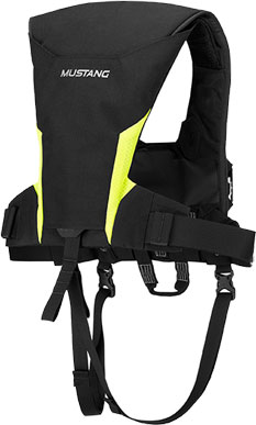 Mustang EP 38 Inflatable Ocean Racing Life Vest - Back View