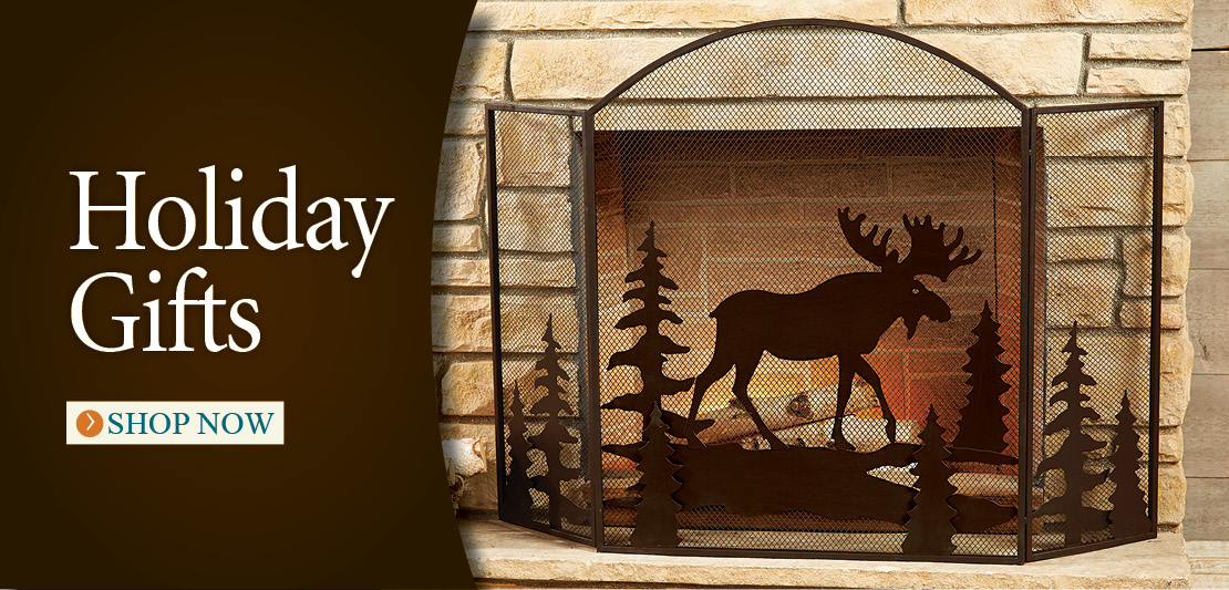 Rustic Fireplace Screens