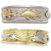 Design Your Own 3-Fish Wedding Band