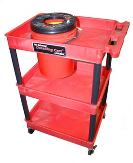 Grit Guard Universal Detailing Cart shown with Grit Guard Universal Pad Washer