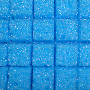 The Lake Country Foam Wash Sponge has porous, cubed foam that channels dirt away from the paint as you wash.