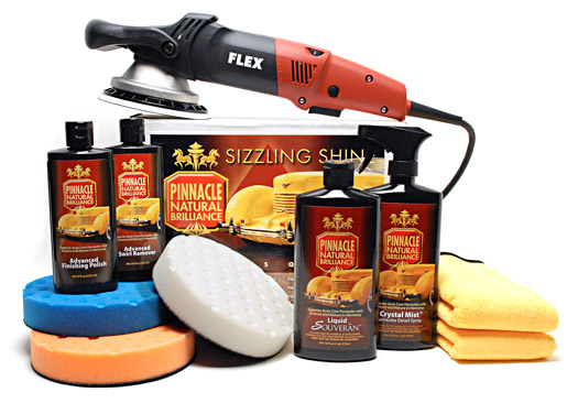 The Pinnacle FLEX Xc3401 Polisher Kit removes swirls and restores the paint's natural brilliance.