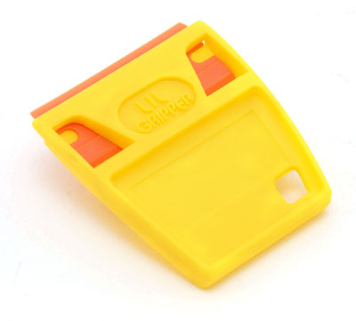 The ScrapeRite Razor Blade Holder makes it easy to grasp the blade for scraping, peeling, and cleaning.