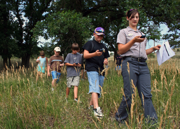 Geocaching Field Trips Using Radios for Communication