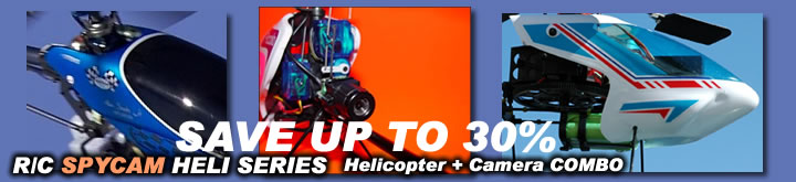 Helicopter + Spy Camera