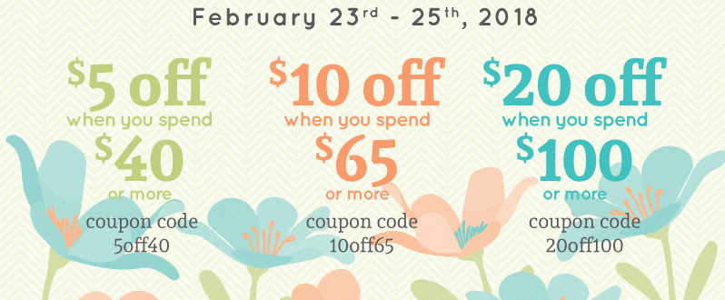 Save big this weekend! - Up to $20 off your order*