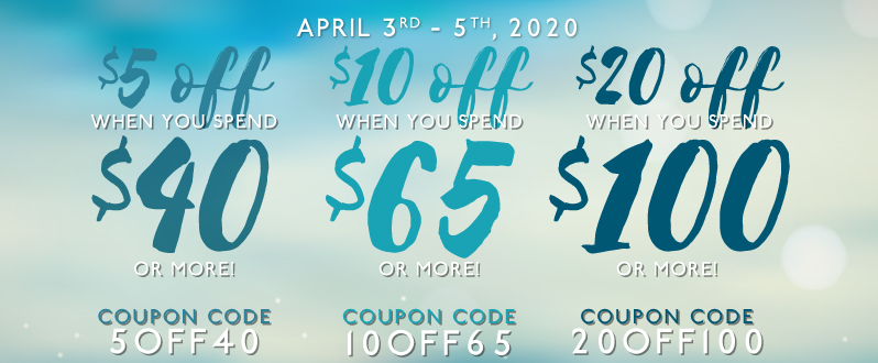 BUY MORE, SAVE MORE | Up to 20$ off your entire order!*