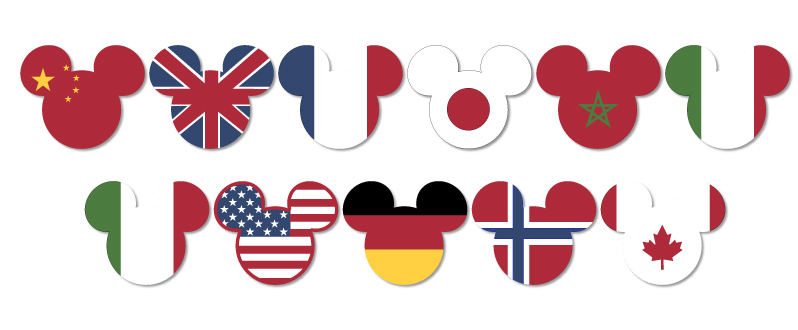 New EPCOT Flag Mickey Heads