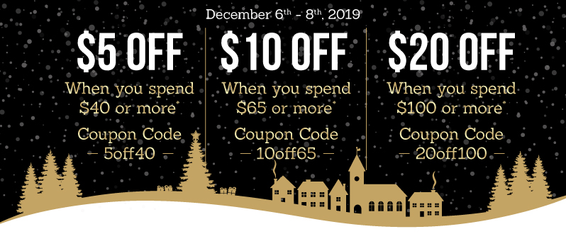 Save up to $20 off your entire order!*