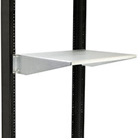 Cantilever shelf mounted in a 2-post rack