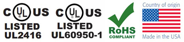 Great Lakes EN Certifications - cUL, RoHS, Made in USA