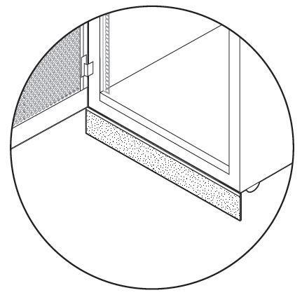 AisleLok Under Rack Gap Panel Application