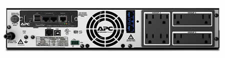 APC SMX1500RM2UNC Backview