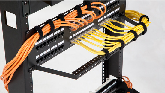 Flanged Cable Lacing Panel Application
