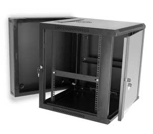 Side View of Swing-out Wall Mount Cabinet with Side Panel Removed