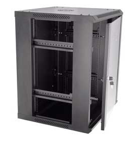 Side View of Fixed Wall Mount Cabinet with Side Panel Removed