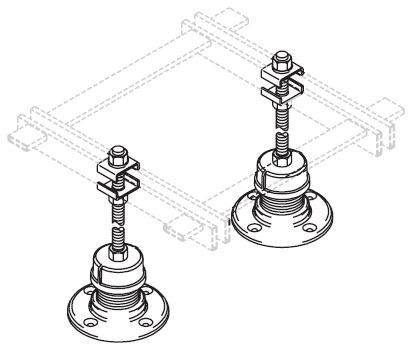 Adjustable Floor Support Stands